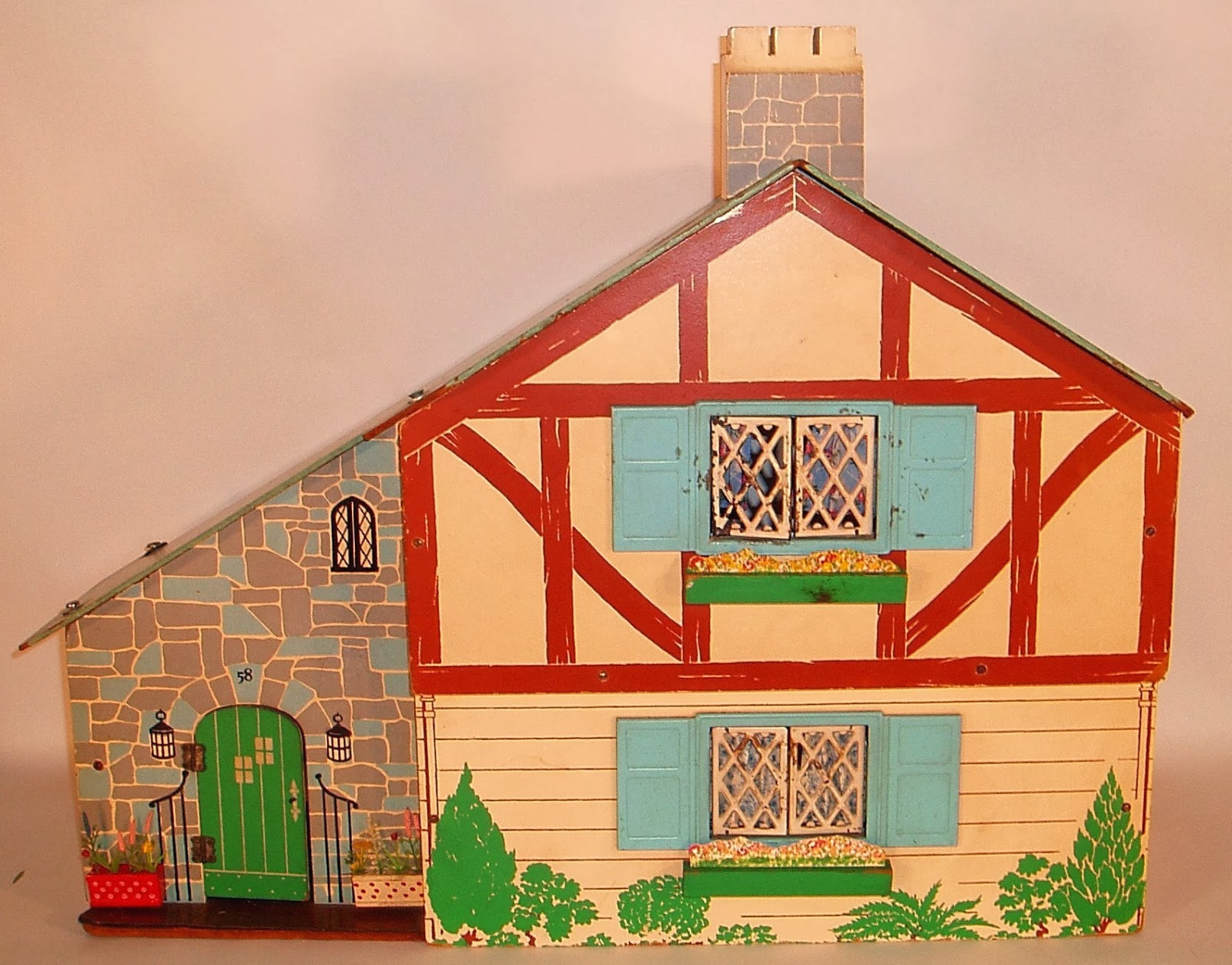 My Vintage Dollhouses: Kage furniture in a Keystone of Boston house.....