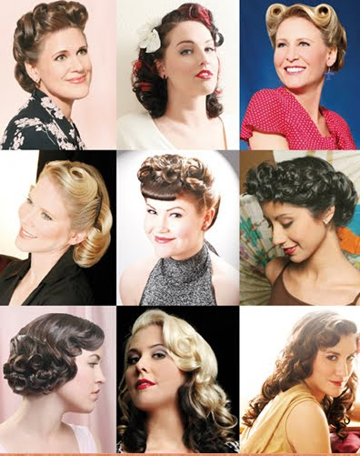 fifties hairstyle. fifties hairstyles. 50s pin up hairstyles
