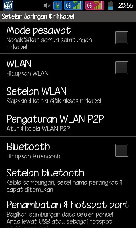Cara membuat wifi / tethering di Hp Android