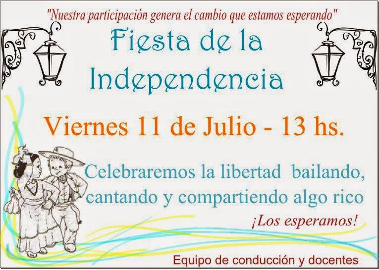 Para El Acto Escolar Del 9 De Julio   MEJOR CONJUNTO DE FRASES