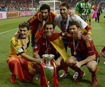 Five Real Madrid players are champions of the Euro 2012