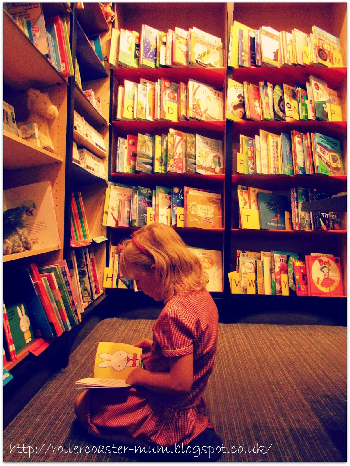 mini bookworm in bookshop, bookshelves