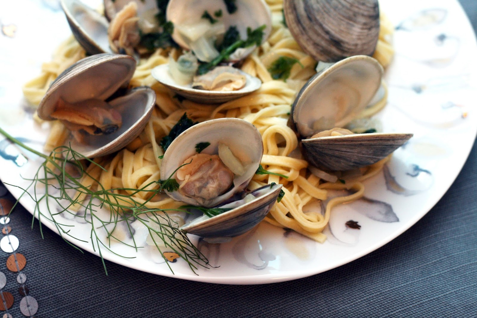 Coconut & Lime // recipes by Rachel Rappaport: Clam & Fennel Linguine