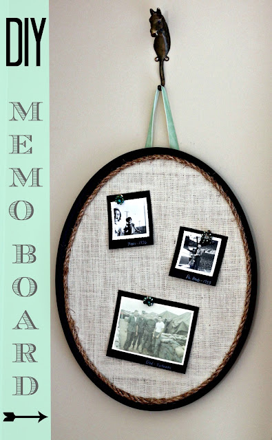 DIY corkboard memo board