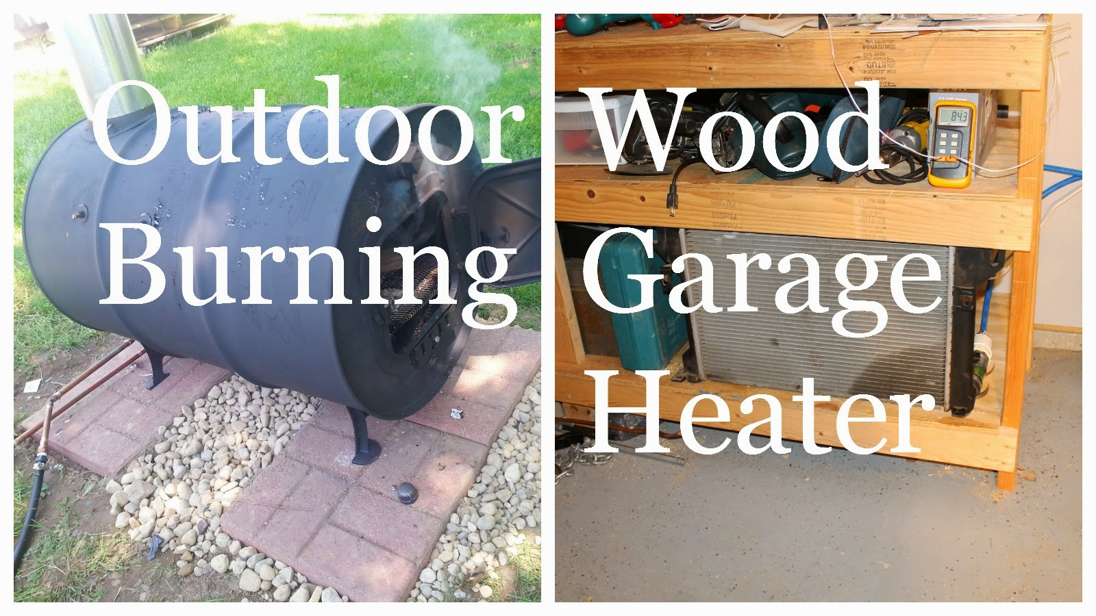 outdoor wood burning garage heater heat your garage for free using