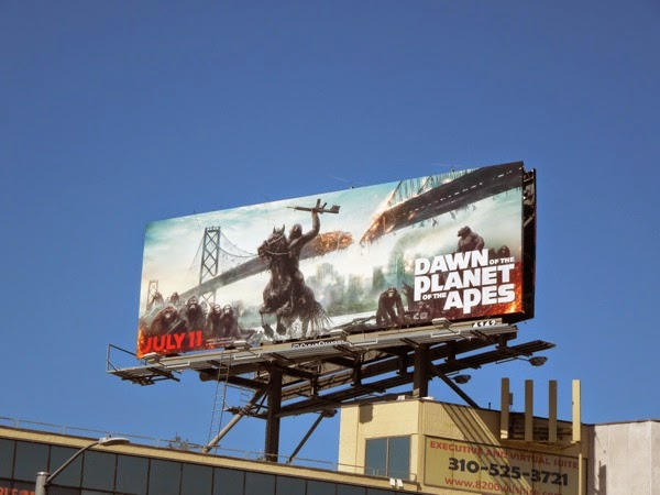 Dawn of the Planet of the Apes horseback billboard