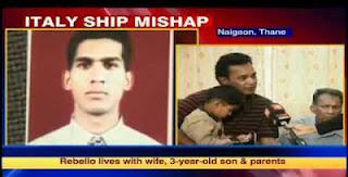 Indian sailor ribello missing