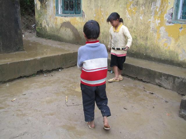 tribe children playing