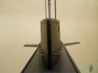 vela del submarino kilo de trumpeter a escala 1:144