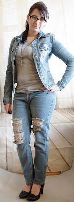 Outfit How to style a Boyfriend Jeans - Teil 11: Jeans & Jeans