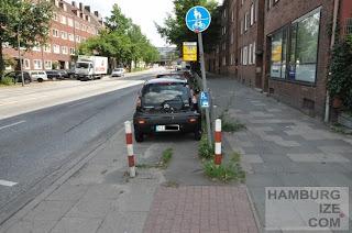 Kieler Straßen / Augustenburger Straße - Parkplätze statt Radweg