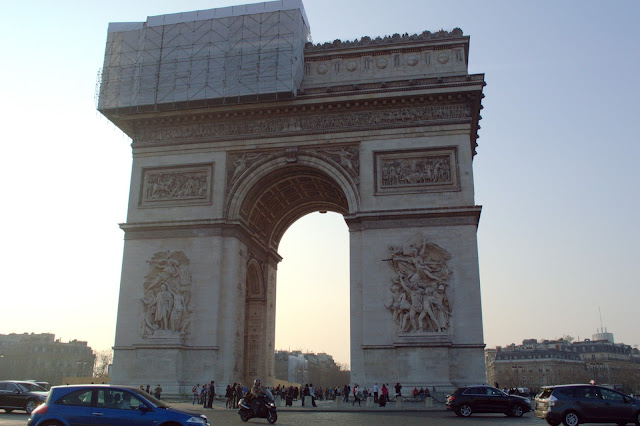 Arc de Triopphe with scaffolding