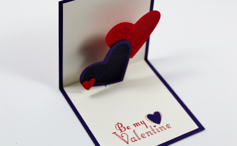 My little craft blog Be My Valentine PopUp Card – How to Make a Valentines Pop Up Card