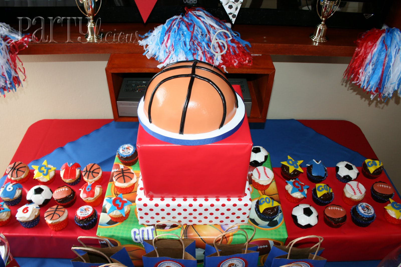 Partylicious All Star Birthday - All star birthday cake