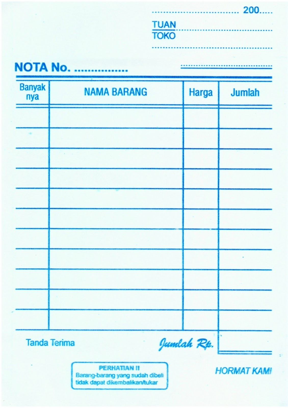 Contoh Nota Pembelian | newhairstylesformen2014.com