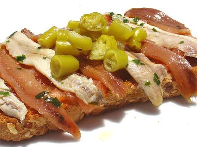 Pan con tomate marinero