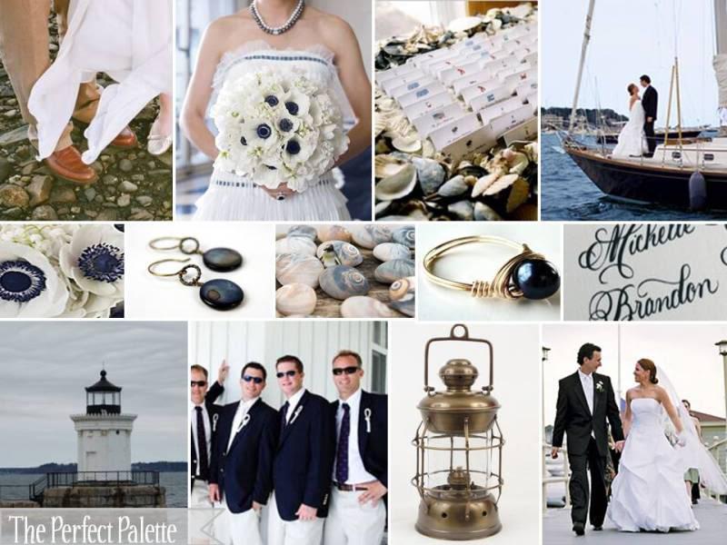 LQ Designs The Perfect Palette A Cape Cod Wedding A Palette Of Navy Blue Antique Gold Amp White