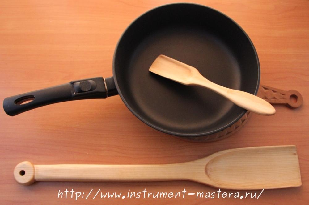 Лопатки деревянные для тефлоновой посуды