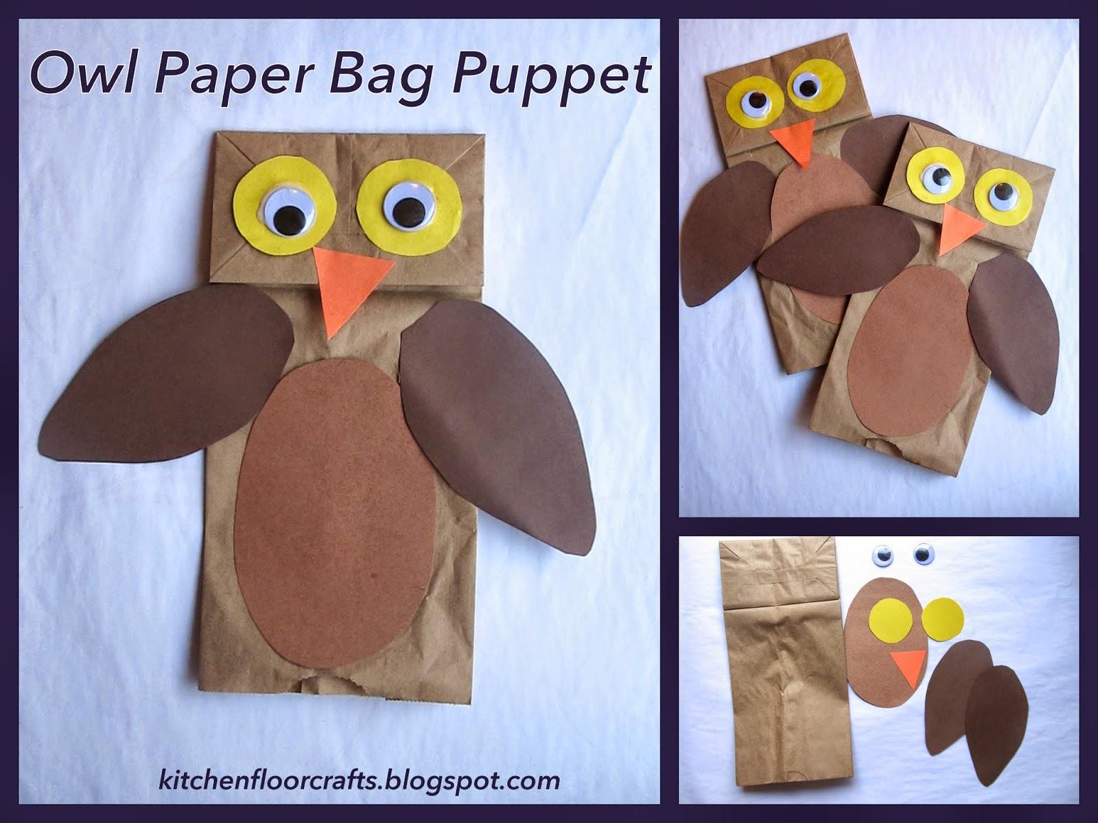 Kitchen floor crafts owl paper bag puppets owl paper bag puppets jeuxipadfo Choice Image