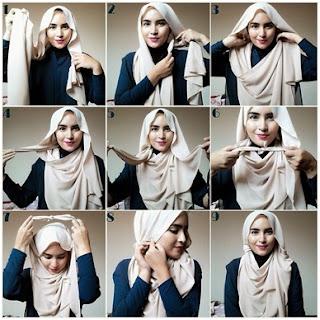 Tutorial Hijab Sederhana dengan Satu Jarum