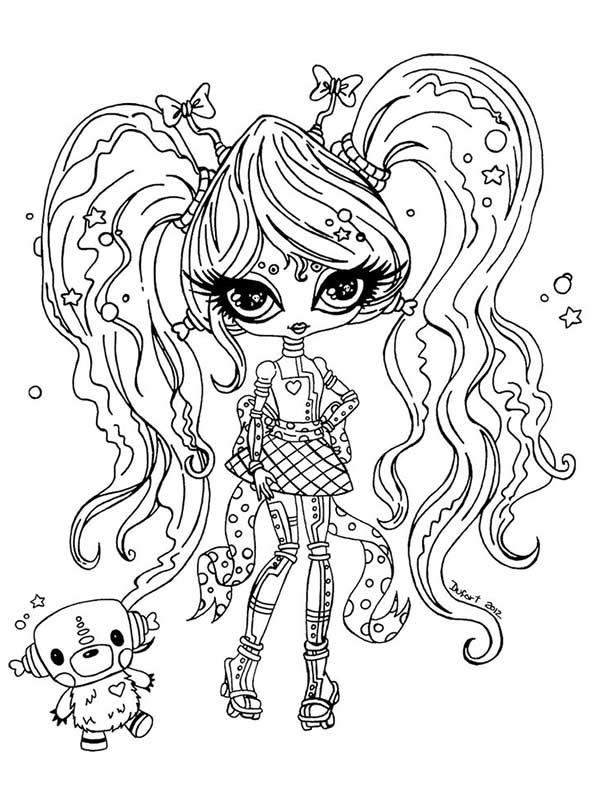 Monster High dibujos para imprimir y colorear: Dibujos Monster High