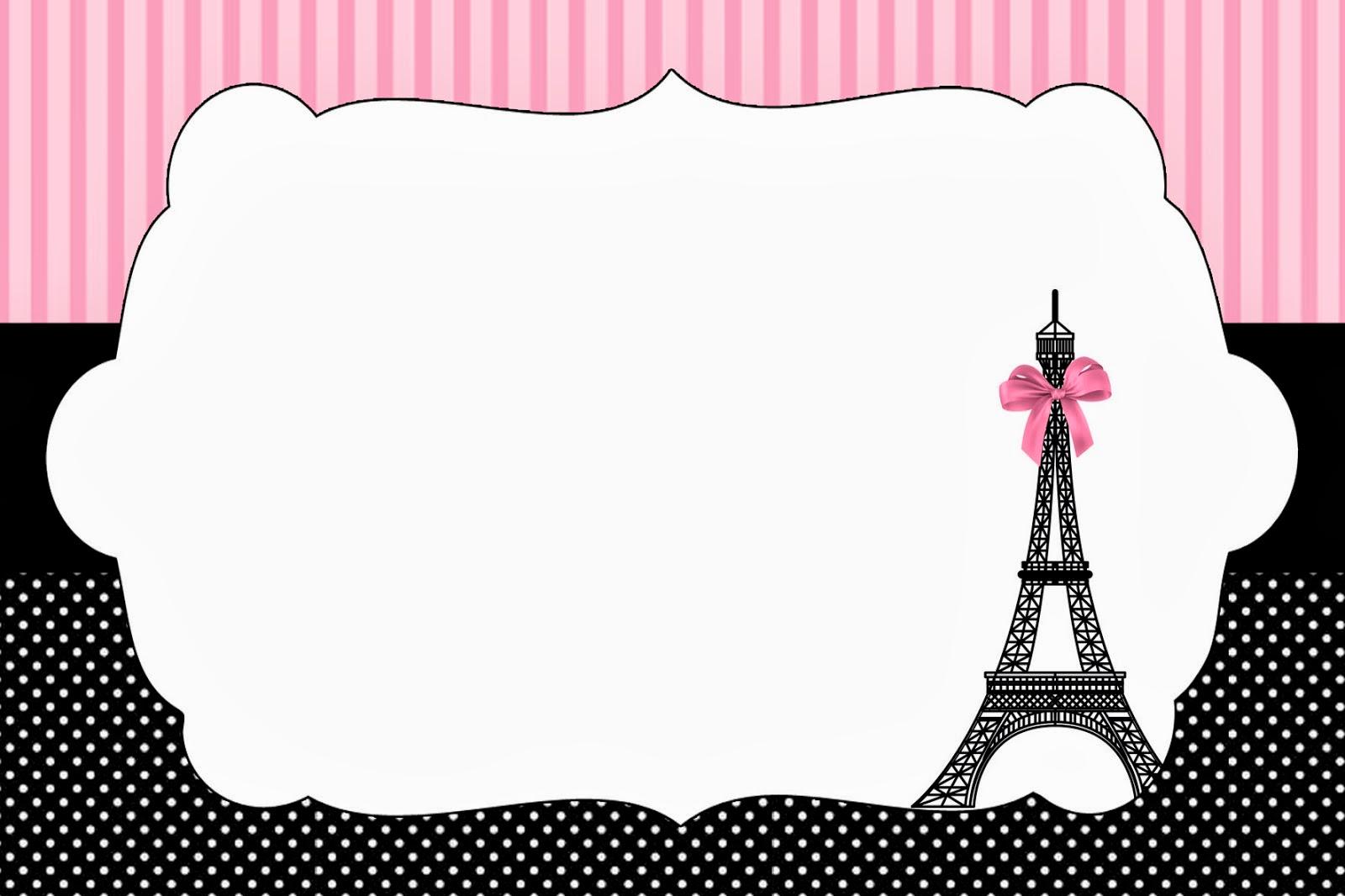 Paris Themed Baby Shower Invites as nice invitation example