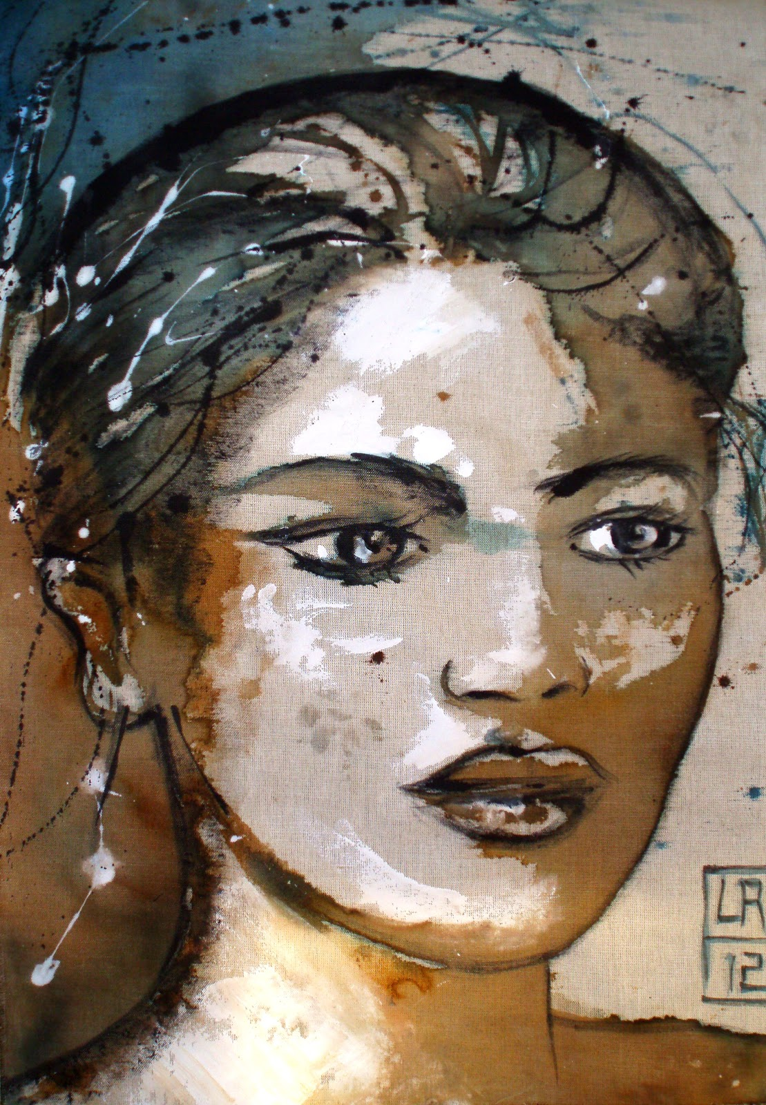 Lydia Roche Art - portrait dessin: Petites toiles disponibles - peinture femme africaine