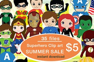 Superheroes 35 png files