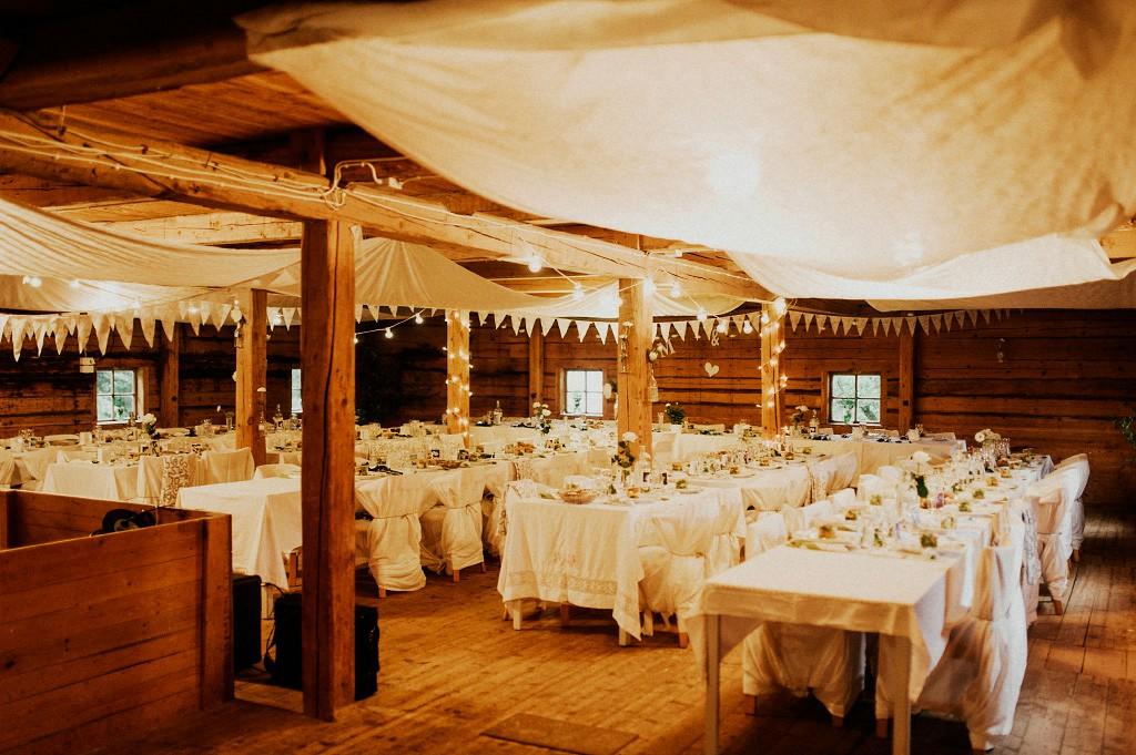 Bröllopsfest i Vassbo vandrarhem | Bröllopsdukning