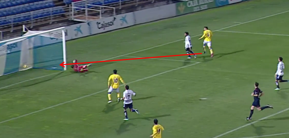 0-3 gol de Vicente