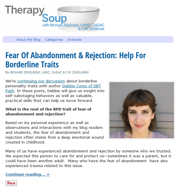 """fear of abandonment Perhaps the question isn't so much """"how to overcome the fear of abandonment"""" as how to cultivate a sense of acceptance of the ups how to win a man's heart."""