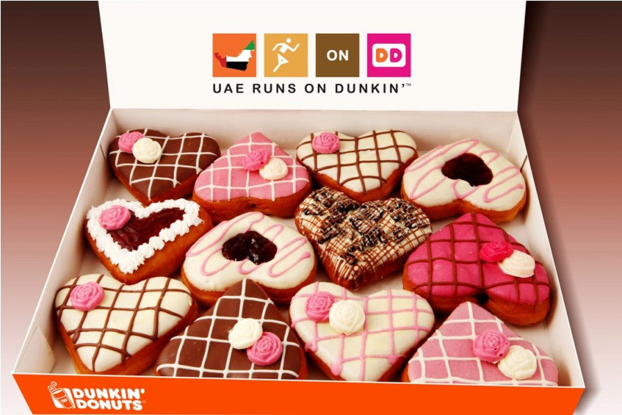 dunkin donuts celebrates the spirit of valentines day with launch of cupids choice heart shaped range