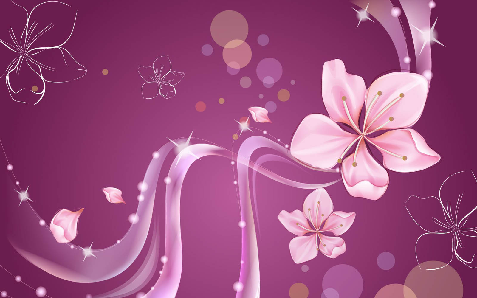 Wallpapers flower art wallpapers for Pretty wallpaper for walls