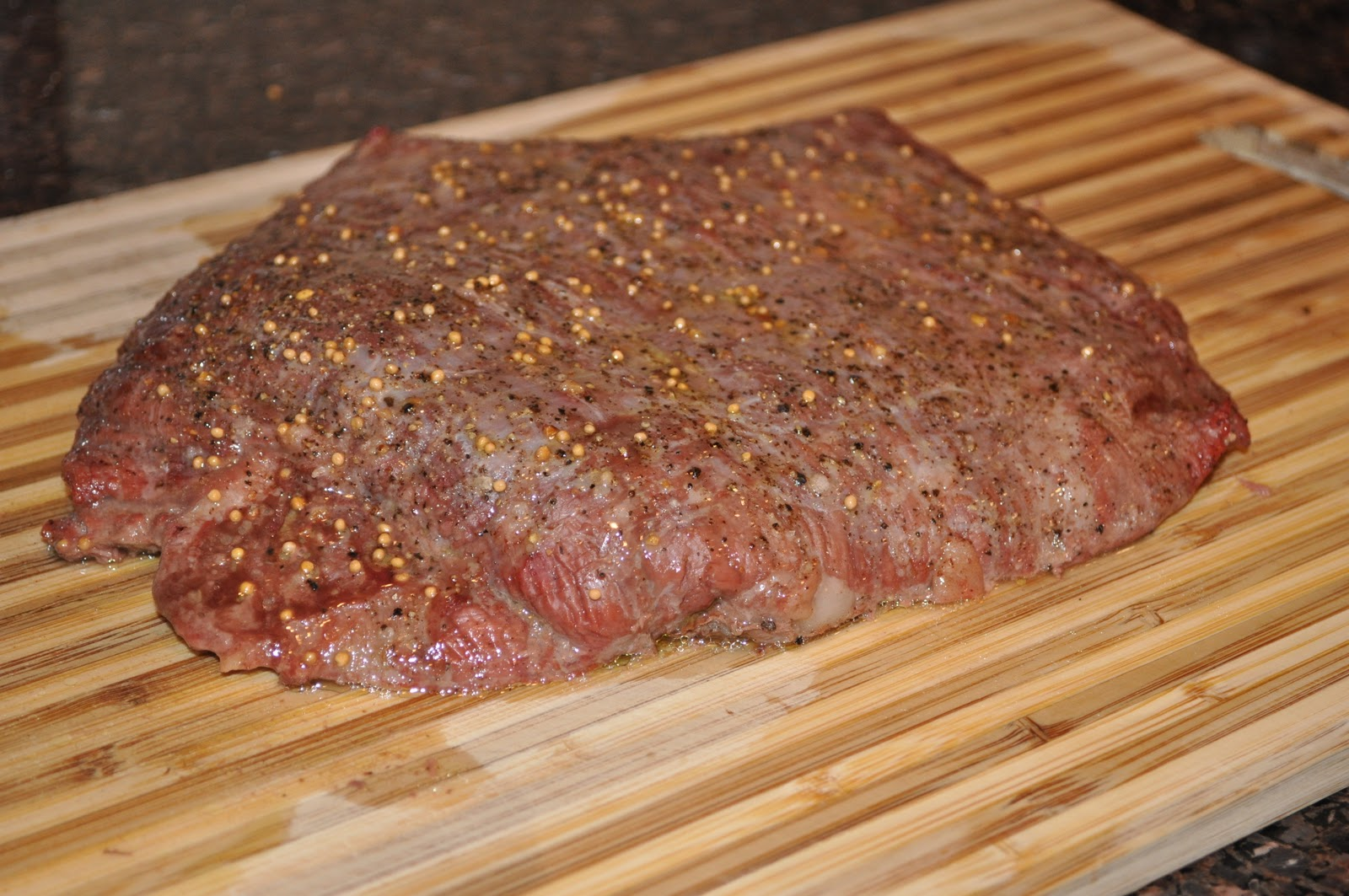 Shih's Cooking: Grilled Flank Steak with Mushrooms
