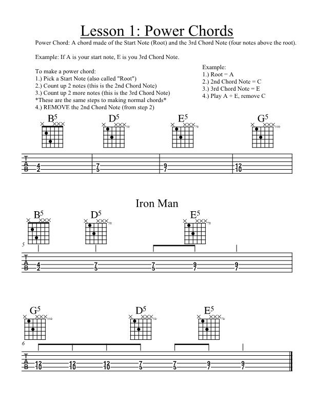 After School Guitar and Violin: Jan 18th Guitar Power Chords