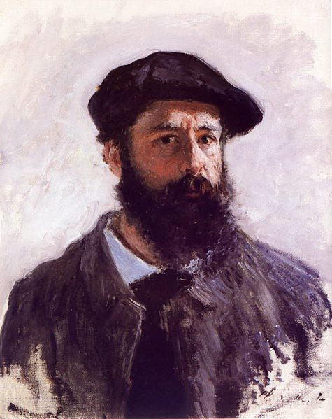 "Picture of ""Self Portrait in Beret"" by Claude Monet, 1886"