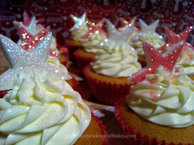 Twinkle star cupcakes