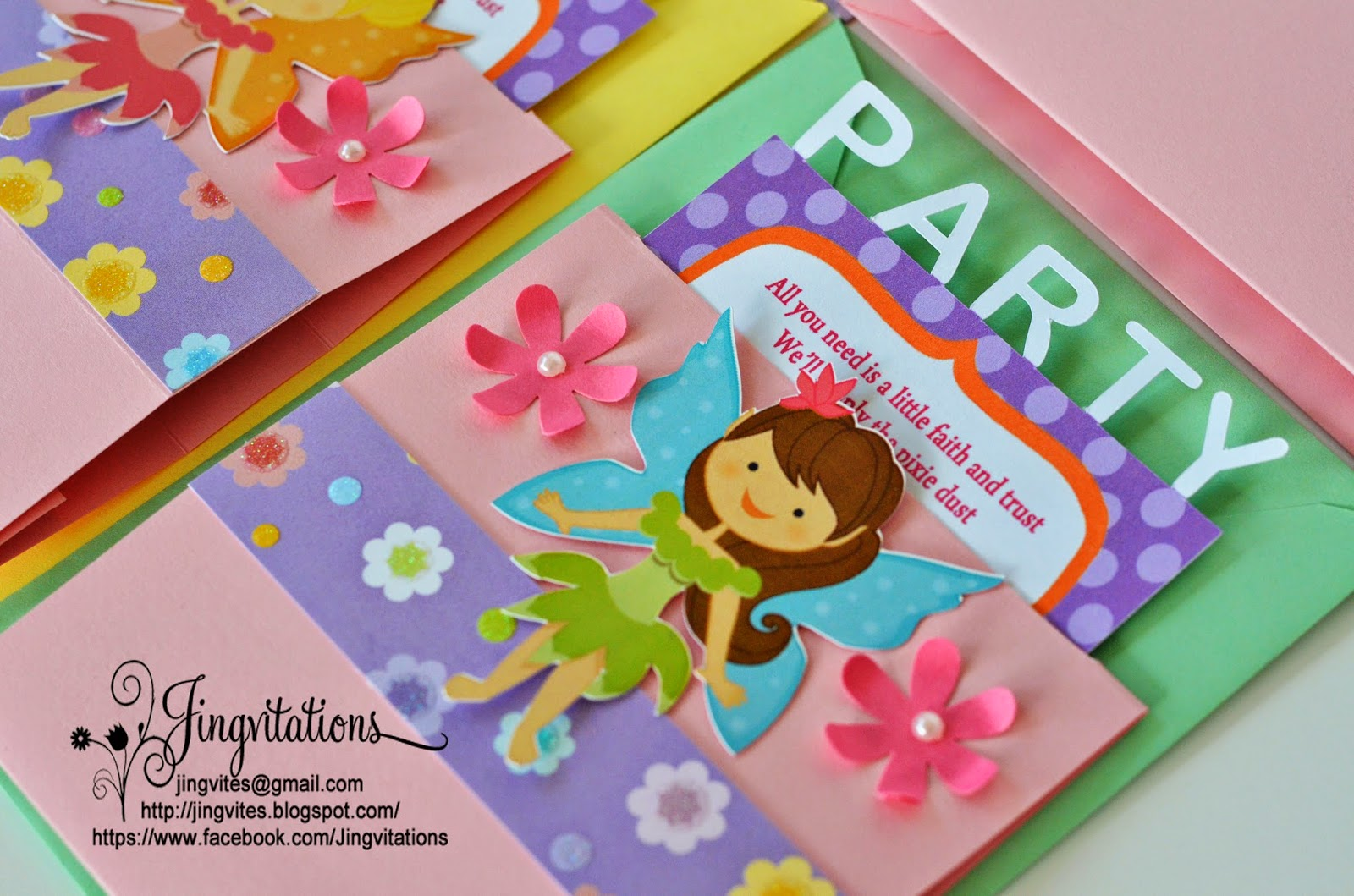 Jingvitations: Tinkerbell Pixie Hollow Fairy Invitations