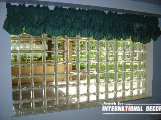 Glass block installation and partition designs in the interior for Glass block window design ideas