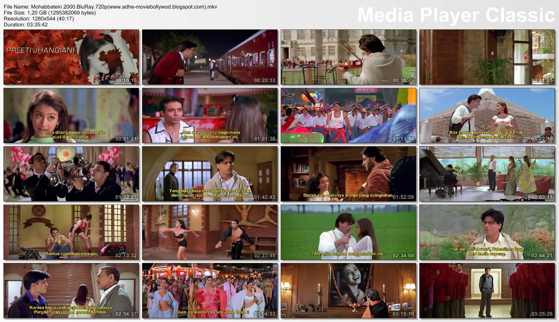Niaeblas Mohabbatein 2000 BBRip 720p Bahasa Indonesia Enconded
