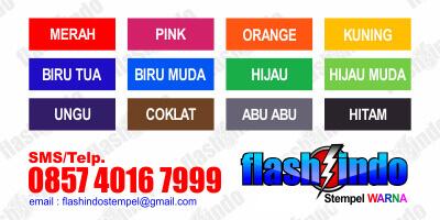 pilihan tinta stempel warna