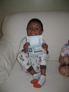 Daniel with passport