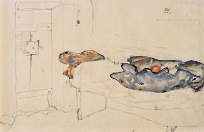 Una sola taronja era l'única llum (Egon Schiele)