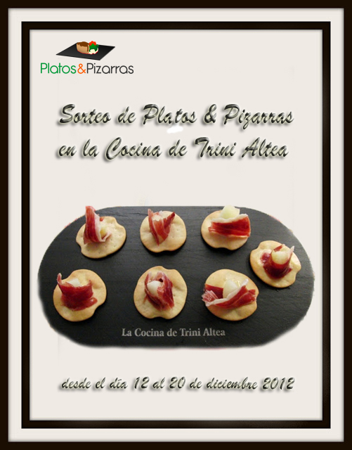 SORTEO &quot;LOTE PLATOS &amp; PIZARRAS&quot;