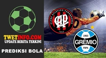 Prediksi Atletico PR vs Gremio, Brazil 17-09-2015