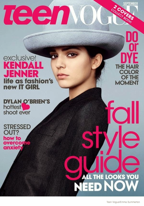 Kendall Jenner scores two Teen Vogue September 2014 covers