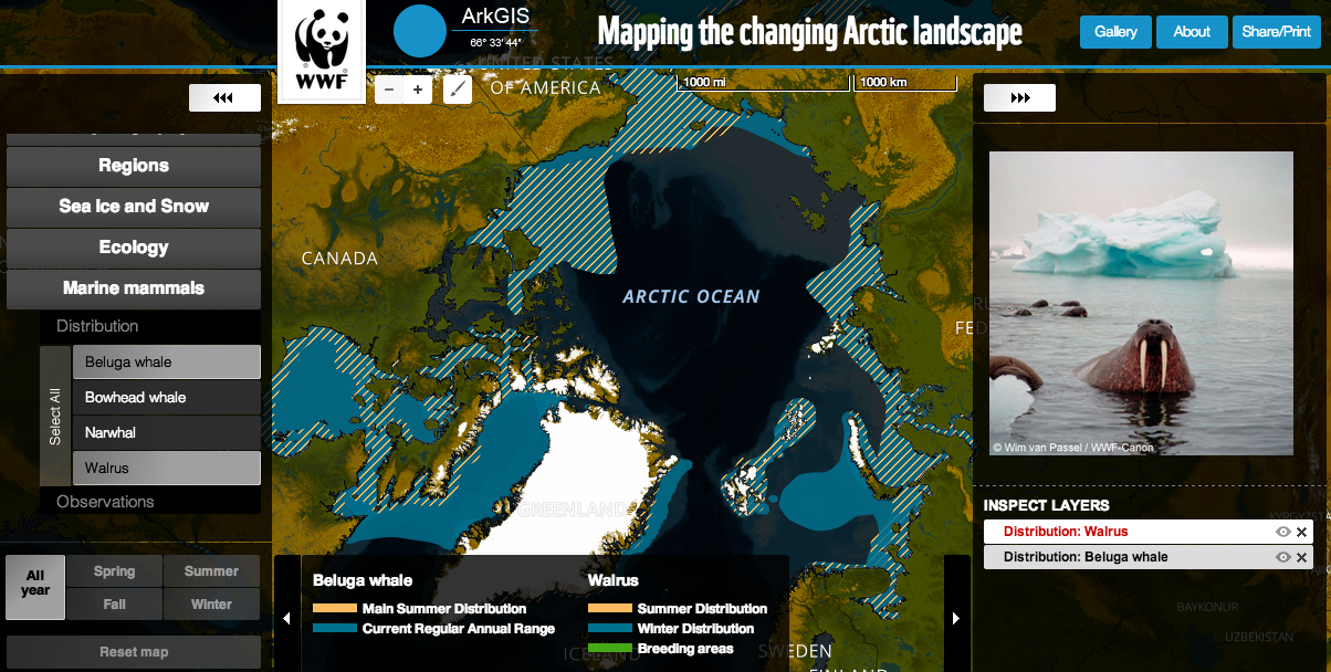 Free Technology for Teachers: ArkGIS - Explore Maps of the Changing Arctic Landscape