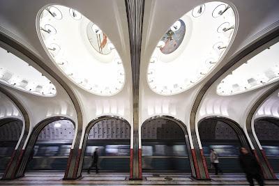 Mayakóvskaya - Metro de Moscú