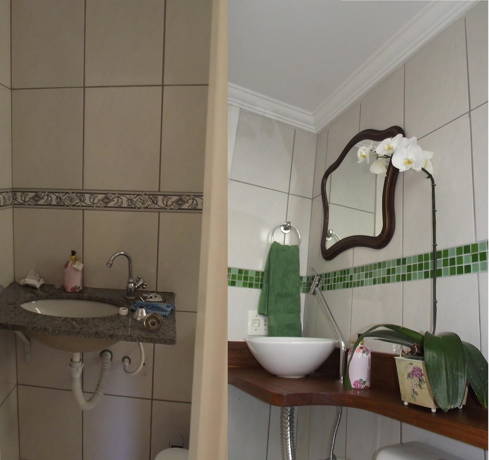 casa: Mais um antes e depois feito por mim desta vez de um b  #3B3225 1600x1506 Antes E Depois De Um Banheiro