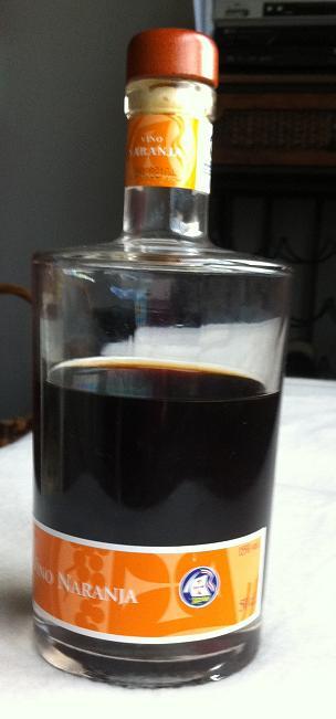 elaboracion de vino de naranja:
